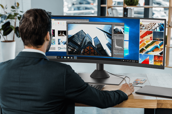 Lenovo ThinkVision P44w Curved Monitor