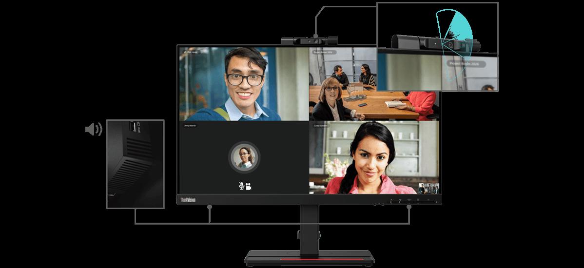 Lenovo ThinkVision T24v-20 Kamera und Lautsprecher