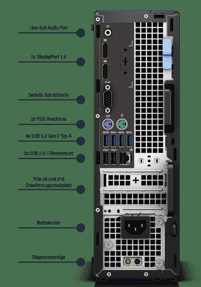 Dell-Precision-Workstation-3450-SFF-Anschlusse