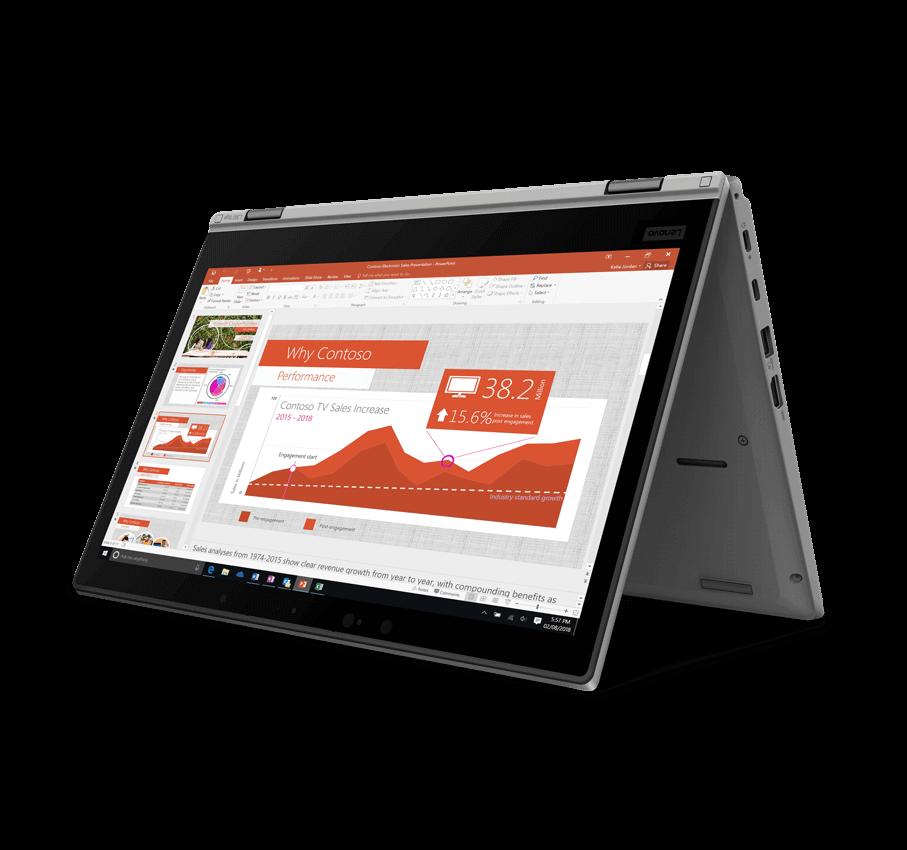 Das Lenovo L390 Yoga eignet sich perfekt für ein flexibles Arbeiten auf Reisen