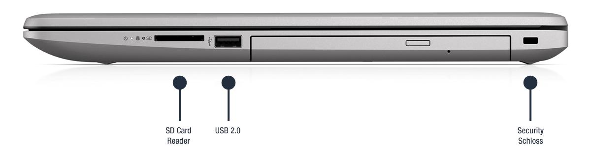 HP 470 G7 Notebook Anschlüsse