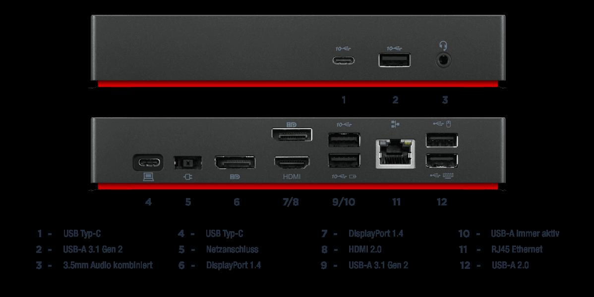 Lenovo-ThinkPad-Universal-USB-C-Dock-Anschluesse