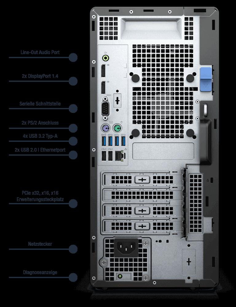 Dell-Optiplex-7090-MT-Anschlusse