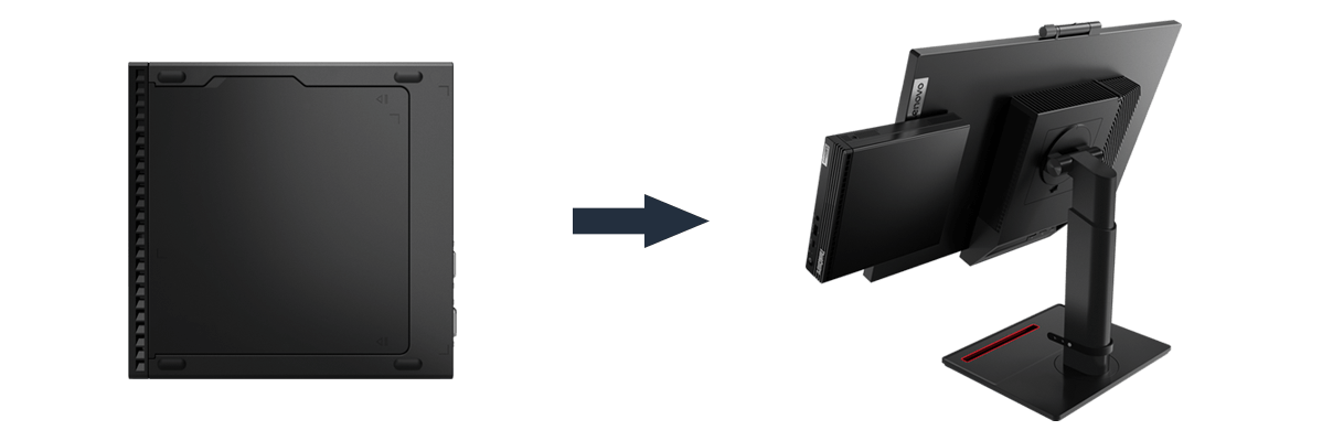 Lenovo ThinkCentre M80q Tiny-In-One-Konzept
