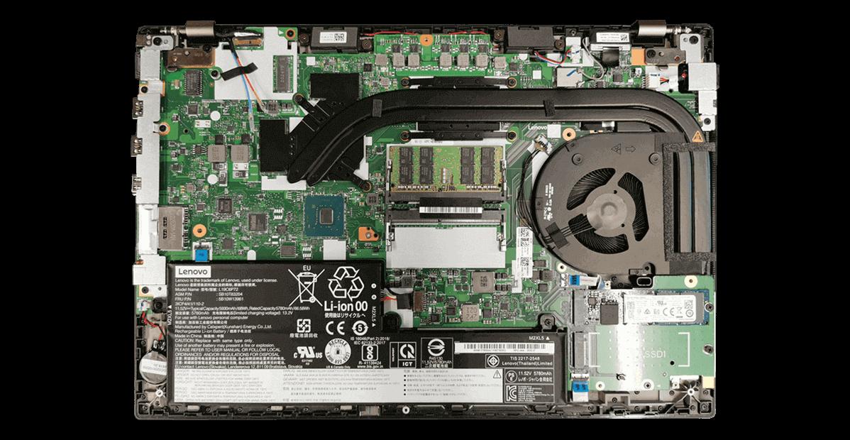 Lenovo ThinkPad P15v Gen 1 geöffnet