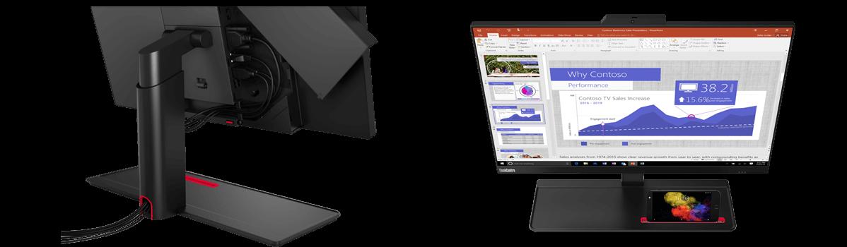 Lenovo ThinkCentre M90a aufgeräumter Arbeitsplatz