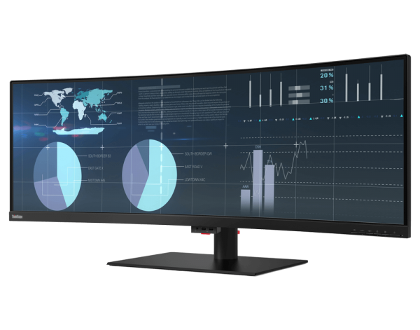 Lenovo ThinkVision P44w Curved Business Monitor 43 Zoll