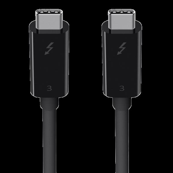 belkin Thunderbolt™ 3 Kabel (USB-C auf USB-C, 2m, 100Watt) F2CD085bt2M-BLK