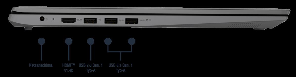 Lenovo V17 IIL Notebook Anschlüsse