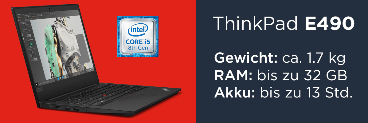 Lenovo ThinkPad E490 20N8005UGE Laptop 14 Zoll mit i5