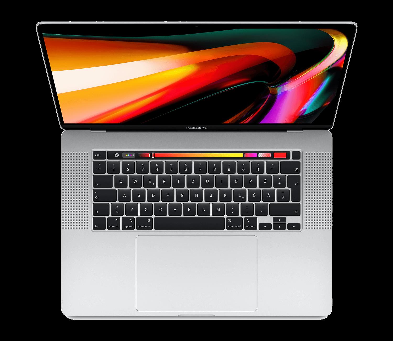 Apple-16-Zoll-MacBook-Pro-Silber-MVVL2DA-i7-16GB-512GB-SSD-Radeon-Pro-5300M-Deutsch