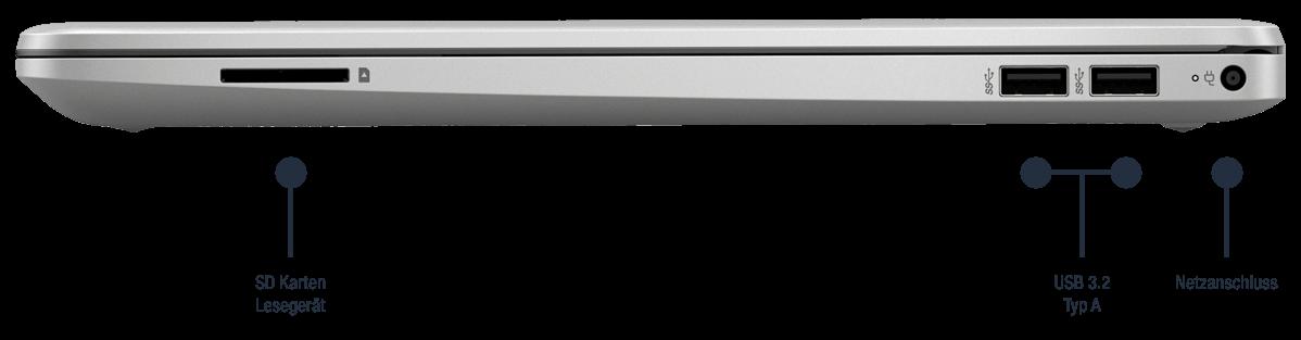 HP 250 G8 27J92EA Anschluesse rechts