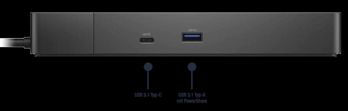 Dell-Dock-WD19S130W-Anschlusse-Bild01