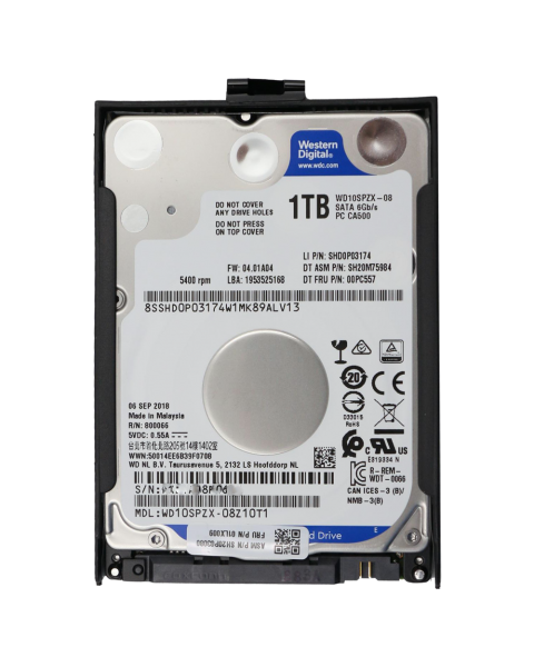 Lenovo ThinkPad 1TB 5400rpm 7mm 2.5 Zoll HDD 4XB0K48493