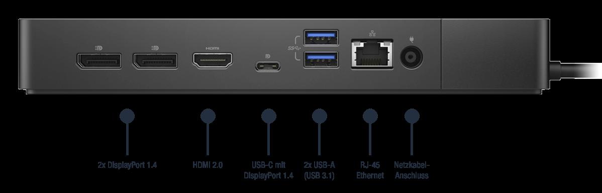 Dell-Dock-WD19S130W-Anschlusse-Bild02