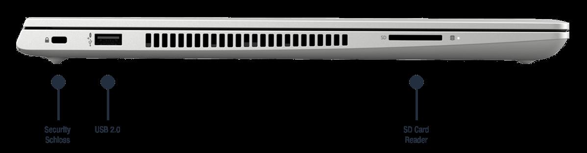 HP ProBook 450 G7 Notebook Anschlüsse