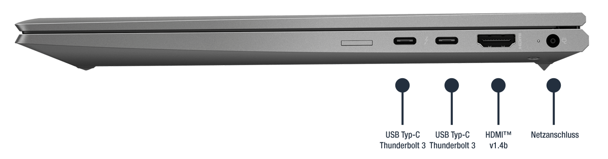 HP ZBook Firefly 14 G7 mobile Workstation Anschlüsse