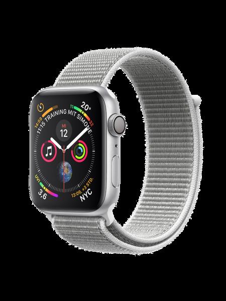 Apple Watch Aluminiumgehäuse, Silber, mit Loop Armband, Muschel