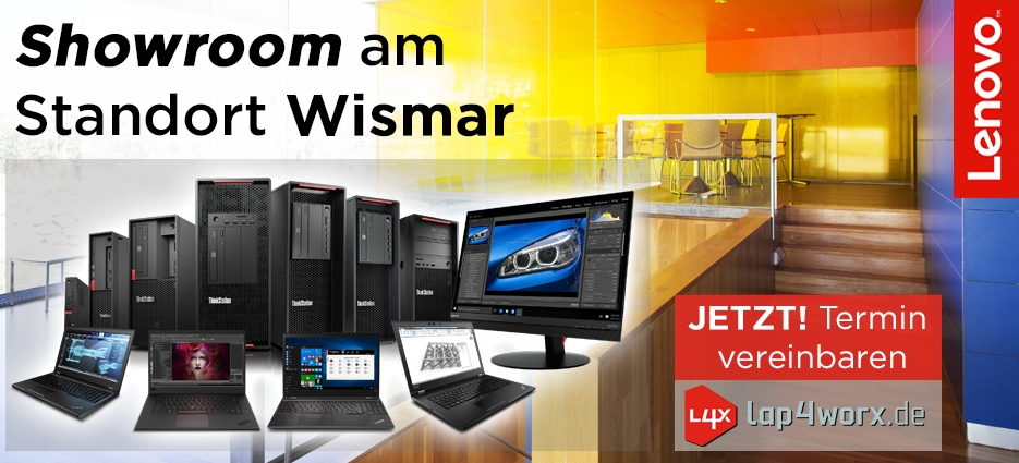 Lenovo Showroom in Wismar bei der wunderow IT GmbH