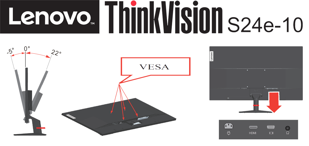 ThinkVision S24e | wunderow IT GmbH | lap4worx.de