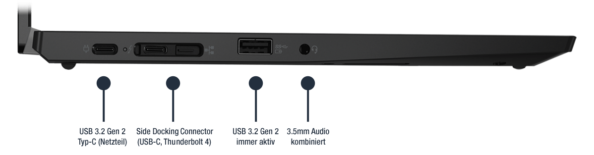 Lenovo ThinkPad L13 Gen 2 Notebook Anschlüsse