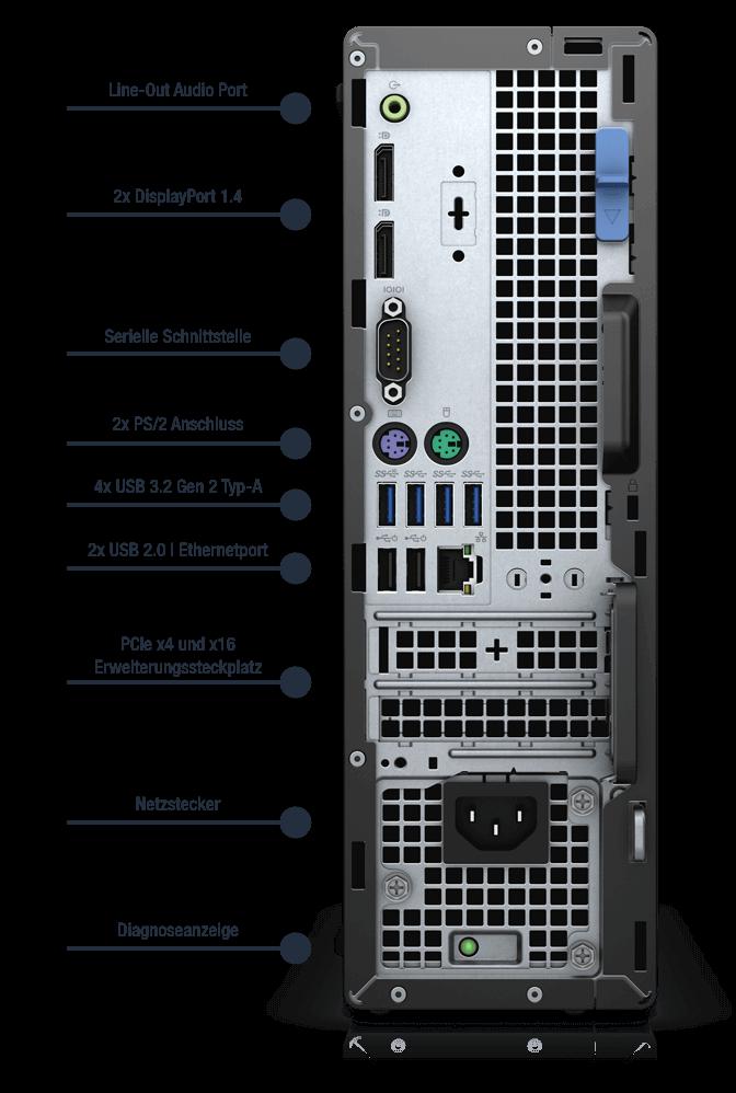 Dell-Optiplex-7090-SFF-Anschlusse