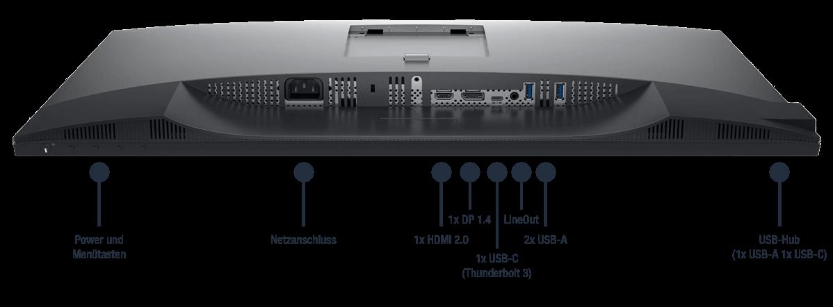 Dell-UltraSharp-U2720Q-Anschlusse