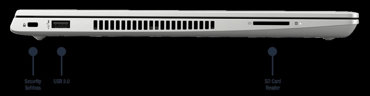 HP ProBook 440 G7 Anschlüsse