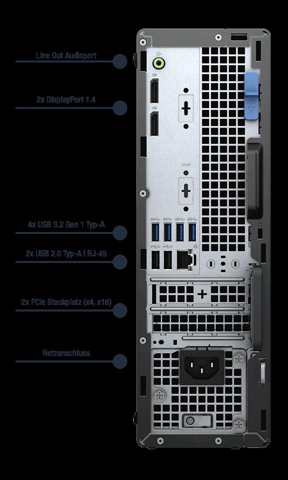 Dell-Optiplex-5090-SFF-Anschlusse