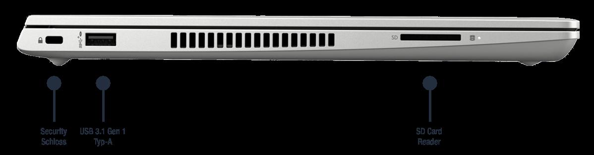 HP ProBook 430 G7 Anschlüsse