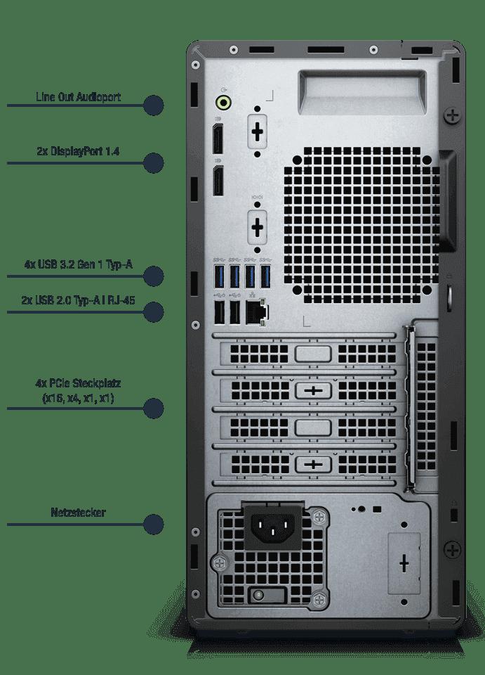 Dell-Optiplex-5090-MT-Anschlusse