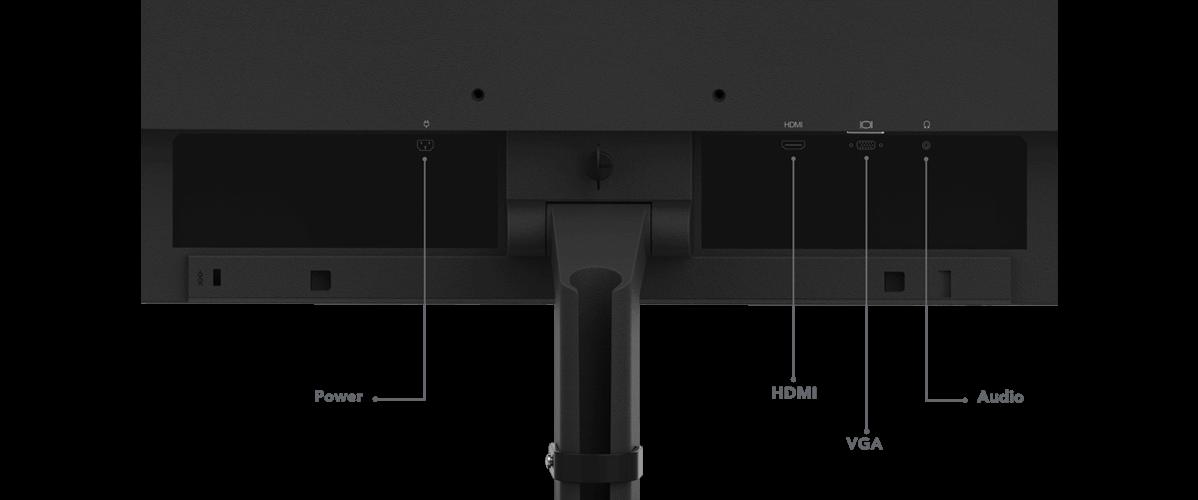 Lenovo ThinkVision S24e-20 Anschlüsse