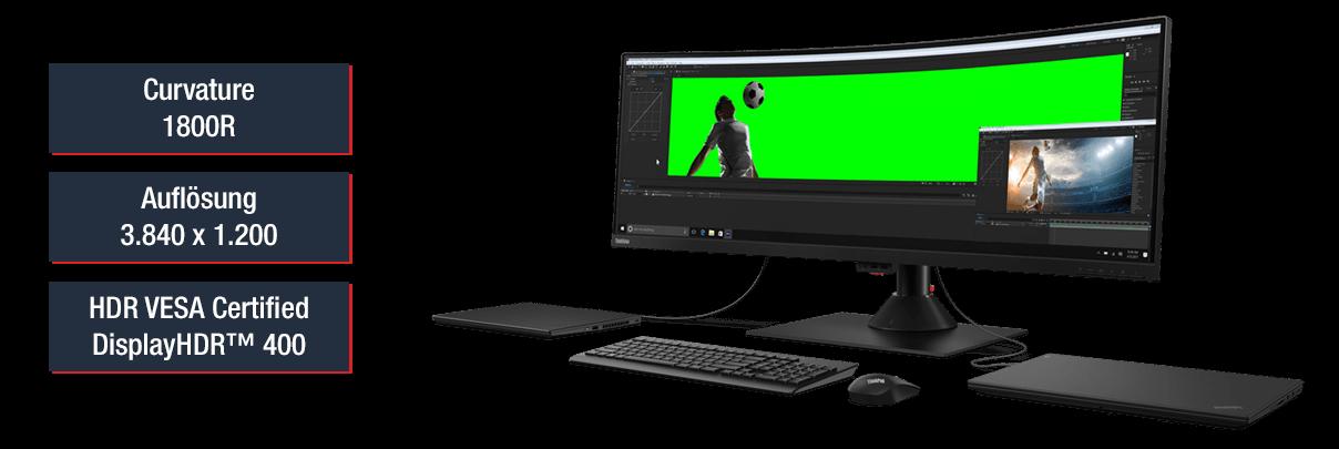 Curved Monitor für Bildbearbeitung und Videoschnitt