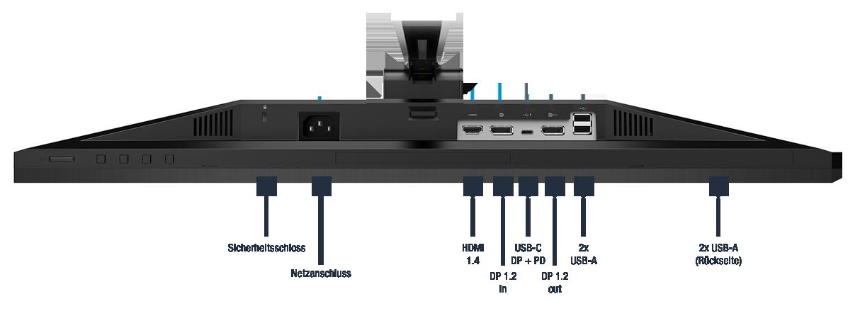 HP-E27u-G4-QHD-USB-C-Monitor-189T3AA-Anschluesse