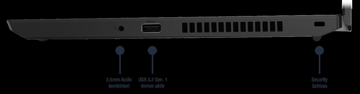 Lenovo ThinkPad L14 Gen 1 Anschlüsse