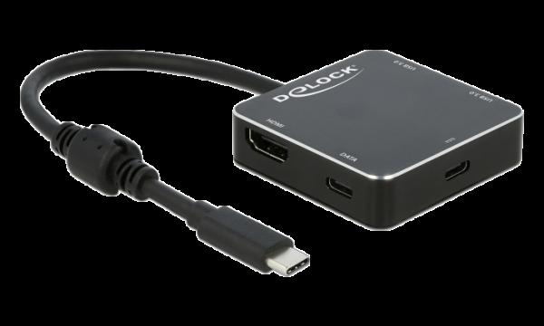 Delock 3 Port USB Hub und HDMI Ausgang mit USB Type-C™ Anschluss und PD 64062 | lap4worx.de