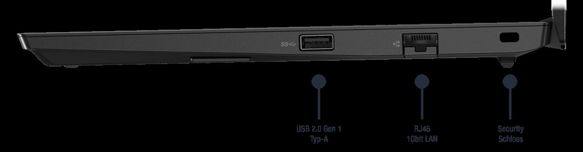 Lenovo ThinkPad E14 Gen 2 Intel Notebook Anschlüsse