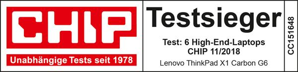 Lenovo ThinkPad X1 Carbon Gen. 6 Testsieger Chip