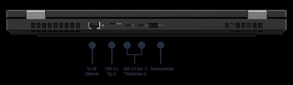 Lenovo ThinkPad P15 Gen 1 Anschlüsse