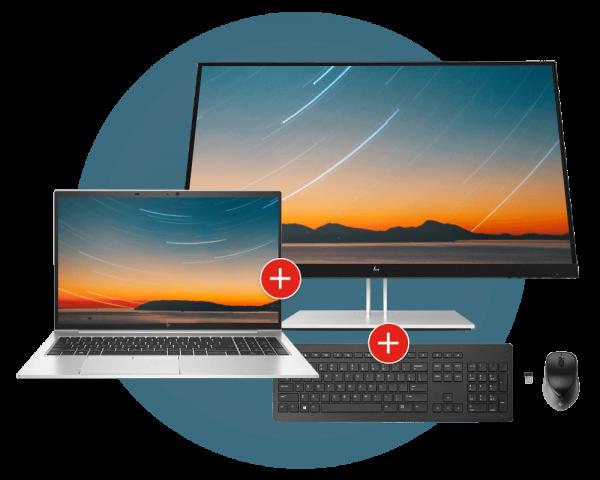HP EliteBook 850 G8 3C7Z7EA Monitor, Maus und Tastatur Bundle | wunderow IT GmbH | lap4worx.de