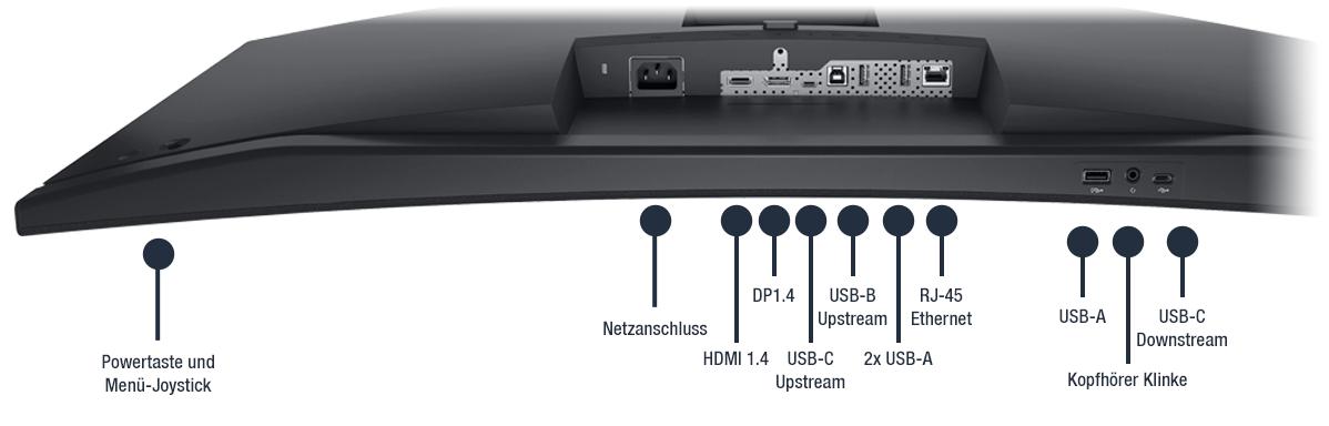 Dell-34-Videokonferenzmonitor-C3422WE-Anschlusse