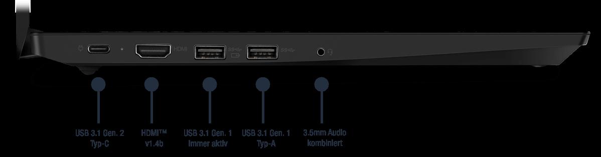 Lenovo ThinkPad E495 Anschlüsse