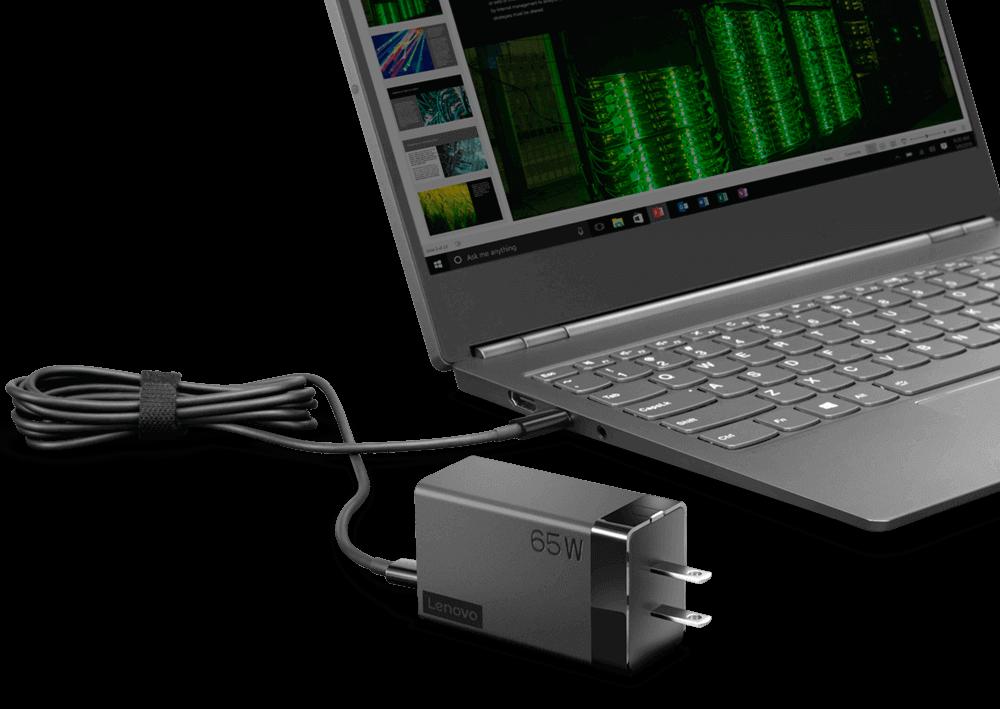 Lenovo-65W-AC-Travel-Adapter-with-USB-C-Port-40AW0065WW-Text
