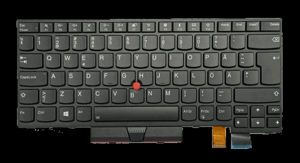 Lenovo ThinkPad T470 Tastatur Schwarz Schwedisch mit Hintergrundbeleuchtung