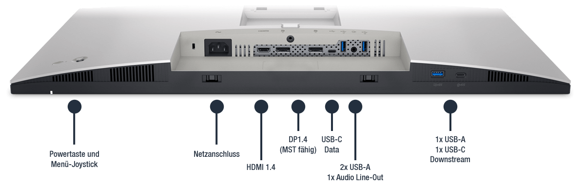 Dell-UltraSharp-U2722D-Anschlusse