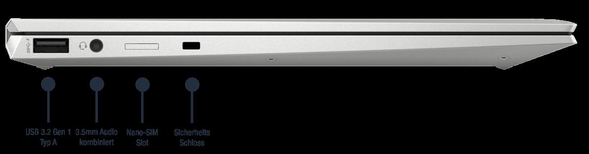 HP-EliteBook-x360-1040-G8-Anschlusse-links