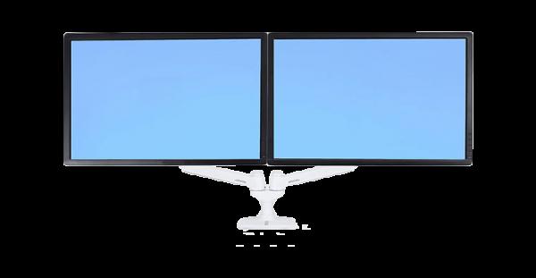 LX Dual Monitor Arm für zwei Monitore nebeneinander, Tischhalterung (weiß) | lap4worx.de