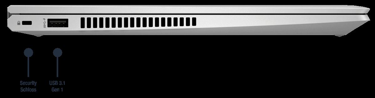 HP ProBook X360 435 G8 - Anschluesse links