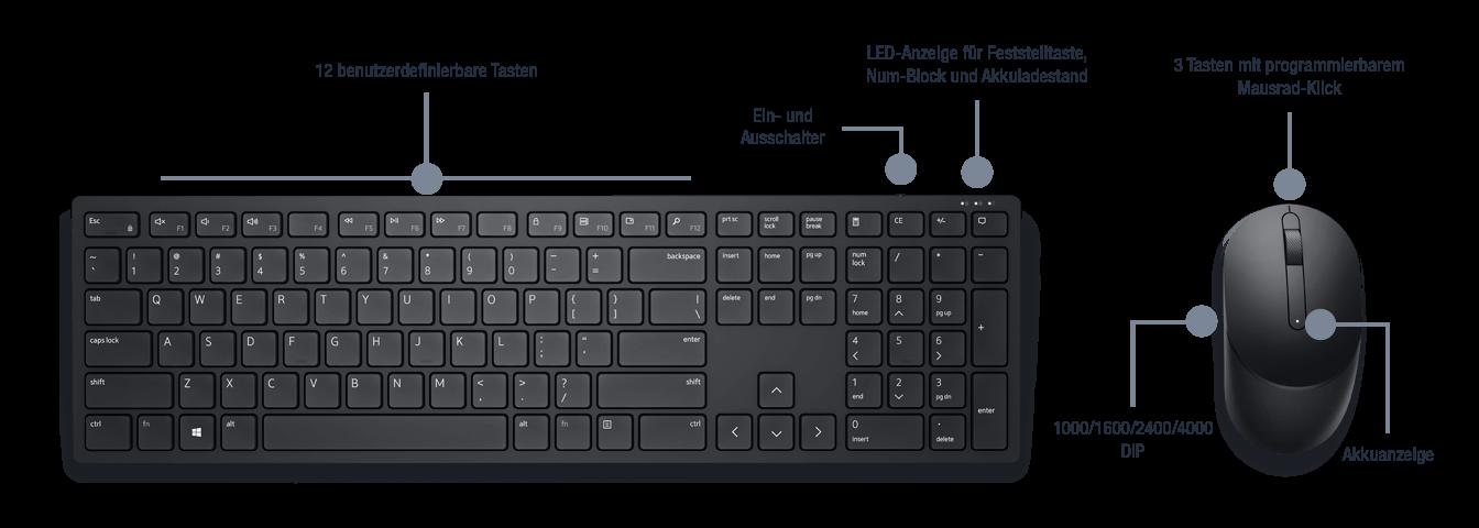 Dell-Pro-Wireless-Maus-und-Tastatur-KM5221W-Bild07