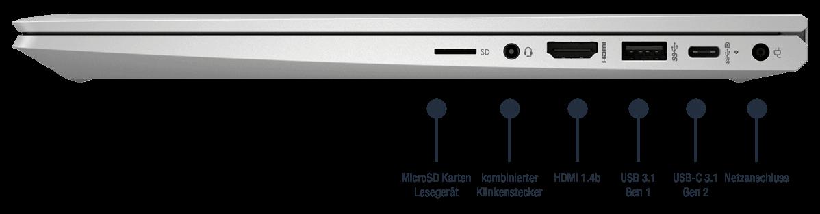 HP ProBook X360 435 G8 - Anschluesse rechts